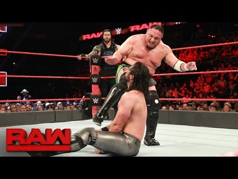 Thumbnail: Roman Reigns & Seth Rollins vs. Bray Wyatt & Samoa Joe: Raw, May 22, 2017