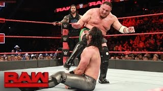 Roman Reigns & Seth Rollins vs. Bray Wyatt & Samoa Joe: Raw, May 22, 2017