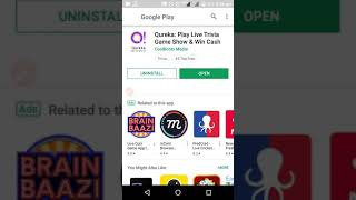 Qureka App Play Live Quiz & Earn paytm Cash