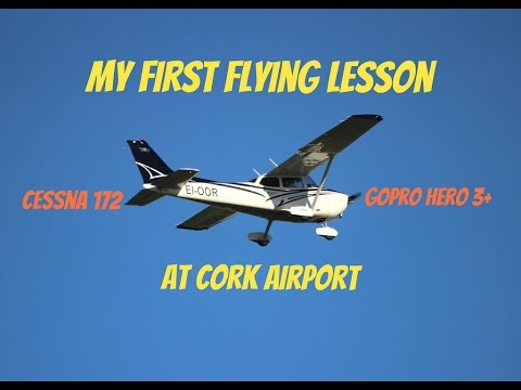 My First Flying Lesson At Cork Airport (GoPro)