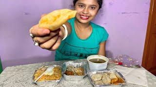 Chicken Momos+Chicken Biryani+Chicken Soup Eating Show