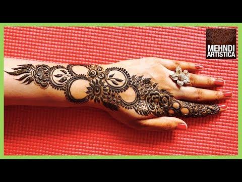 Easy Mehndi Design For Diwali 2017   Stylish Elegant Designer Mehendi For Hands   By MehndiArtistica