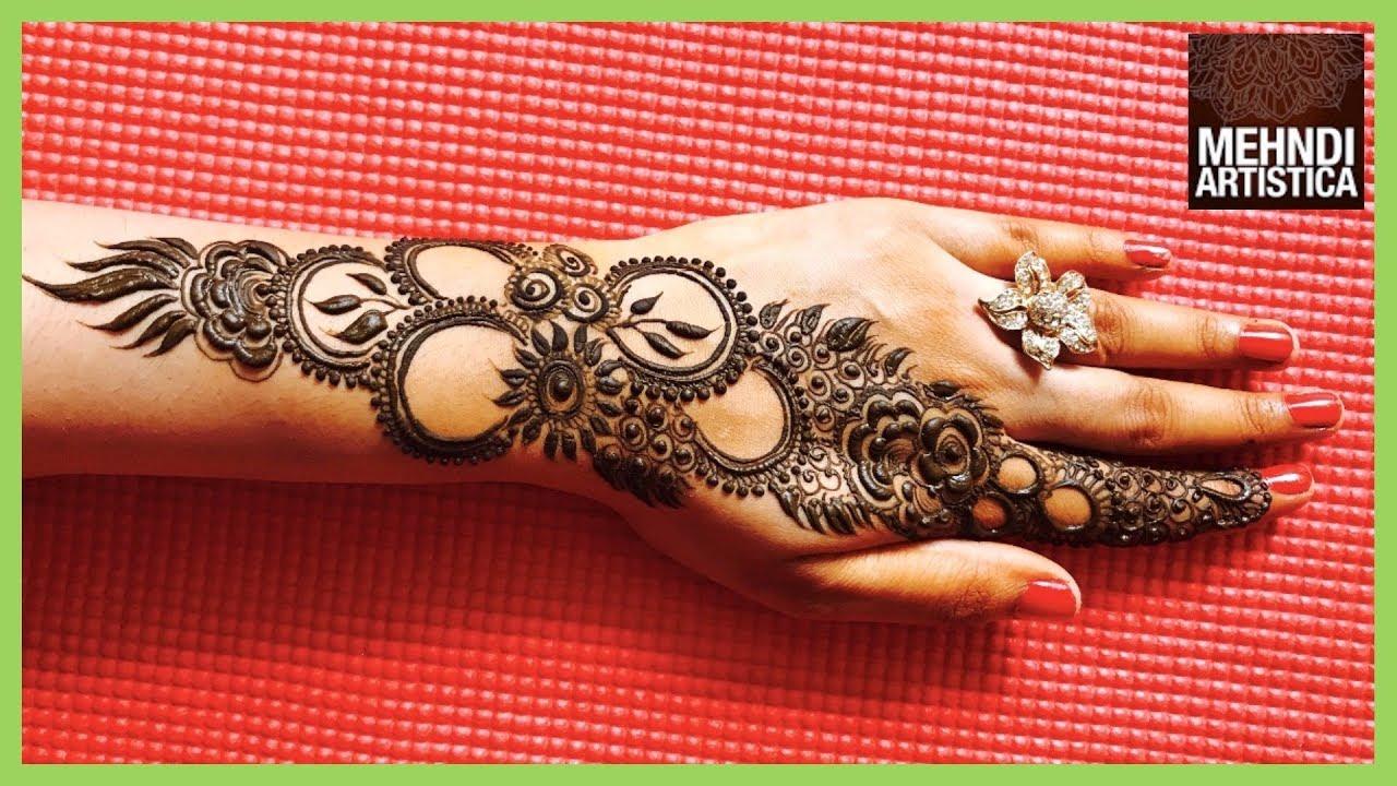Mehndi Hand Patterns Diwali : Easy mehndi design for diwali stylish elegant designer