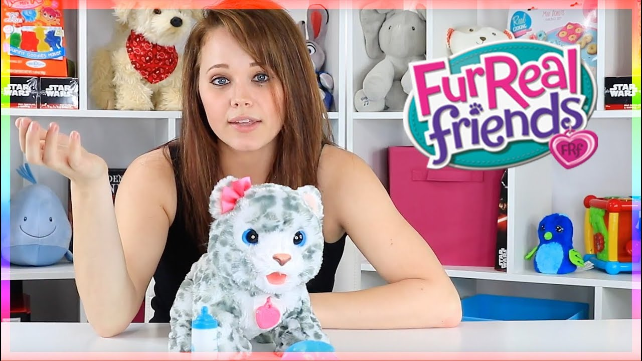 Furreal Friends Flurry My Baby Snow Leopard Youtube