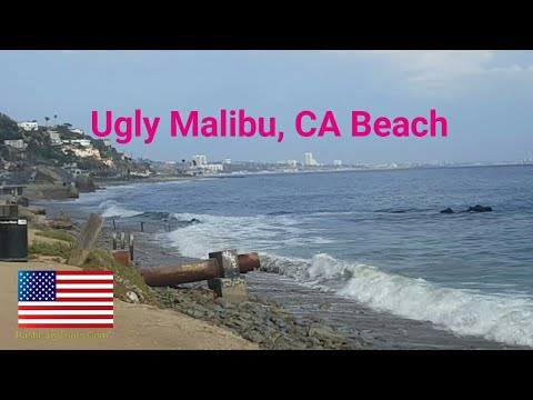 Los Angeles Driving Tour: Ugly Strip of Malibu Beach. Opposite of Relaxing. Driving on PCH to I-10E