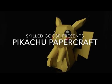 How to make your own Pikachu! Paper Craft