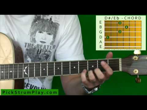 How to Play a D Sharp or E Flat Major Chord on Guitar