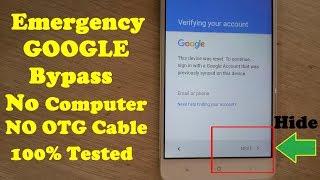 may 2017 ByPass Google Account Lock Remove/Reset Frp Lock NO APK,NO TOOL,NO OTG Solution 100%TESTD