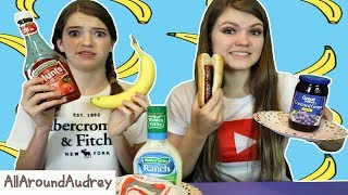 EATING WEIRD FOOD COMBINATIONS! / AllAroundAudrey