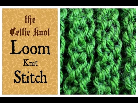 Stitches Loom Knit Herringbone Stitch Cast on, stitch and Bind off FunnyC...