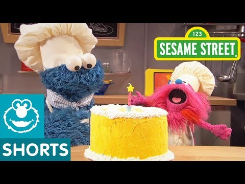 Sesame Street: Making Birthday Cake | Cookie Monster's Foodie Truck