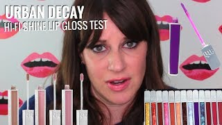 Urban Decay Hi-Fi Shine Lip Gloss Test