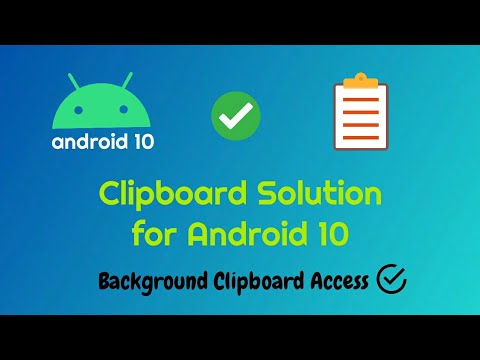 Clipboard not Working in background in Android 10 - Clip Stack Solution