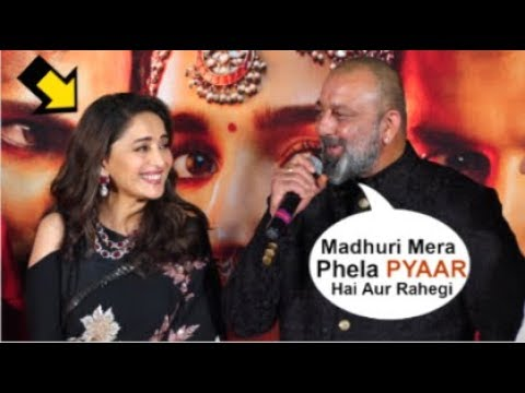 Sanjay Dutt Openly FLIRTS With Ex-Girlfriend Madhuri Dixit In Front Of Media At Kalank Trailer