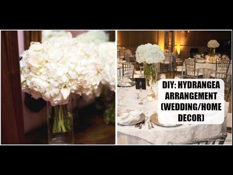 Diy hydrangea flower arrangement home decor wedding diy youtube diy hydrangea flower arrangement home decor wedding diy junglespirit Images