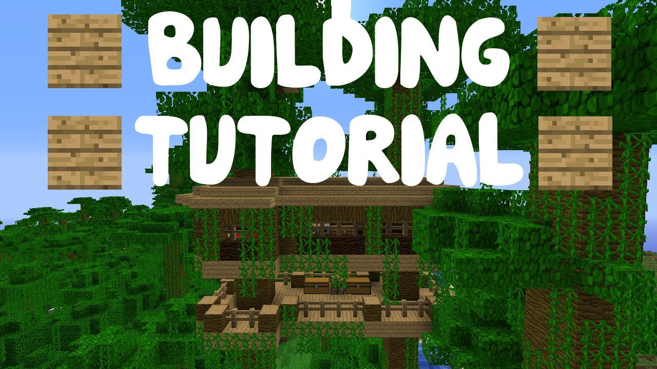 Minecraft building tutorial part 8 cool jungle tree for Jungle house music