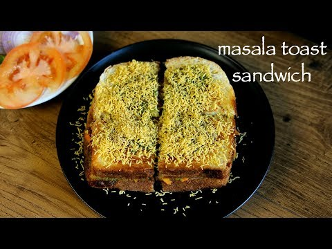 Masala Toast Recipe - How To Make Mumbai Masala Toast Sandwich Recipe