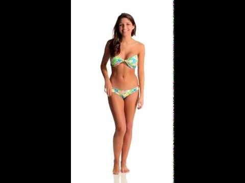 Beach Riot Biscayne Deco Bandeau Bikini Top | SwimOutlet.com