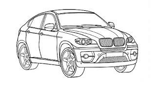 Speed Drawing Bmw X6 Bystroe Risovanie Bmv X6 By Skillful Hands