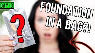 FOUNDATION IN A BAG?! [First Impression Review & Demo] 15 DAYS OF FOUNDATION