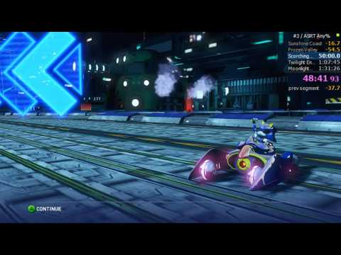 Sonic & All-Stars Racing Transformed Any% Speedrun in 1:28:06