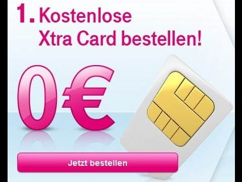 Kostenlose T Mobile Xtra Card D1 Youtube