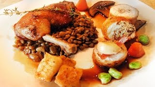 Classic French Chicken with Lentils - homage Michelin Star Chef Marco Pierre White