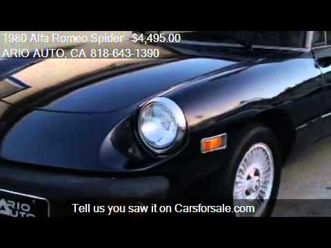 Alfa Romeo Spider For Sale In N HOLLYWOOD CA A YouTube - Alfa romeo spider 1980 for sale