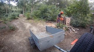 Chainsawing Firewood - Timelapse, Using Gopro Hd Hero