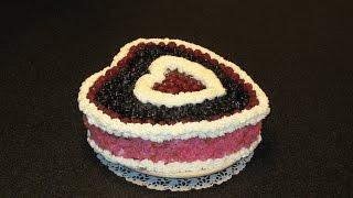 Ягодный торт. Бисквит для торта. Крем для бисквитного торта.