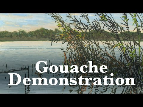 Painting - Plein Air Gouache Demonstration