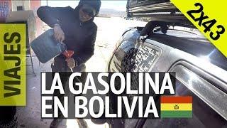 Suramérica en Moto 2x43 - Gasolina en Bolivia  - Uyuni, Colchani, Salar