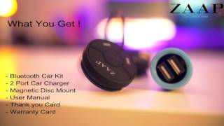 ZAAP Bluethooth Car Kit  Unboxing & Review