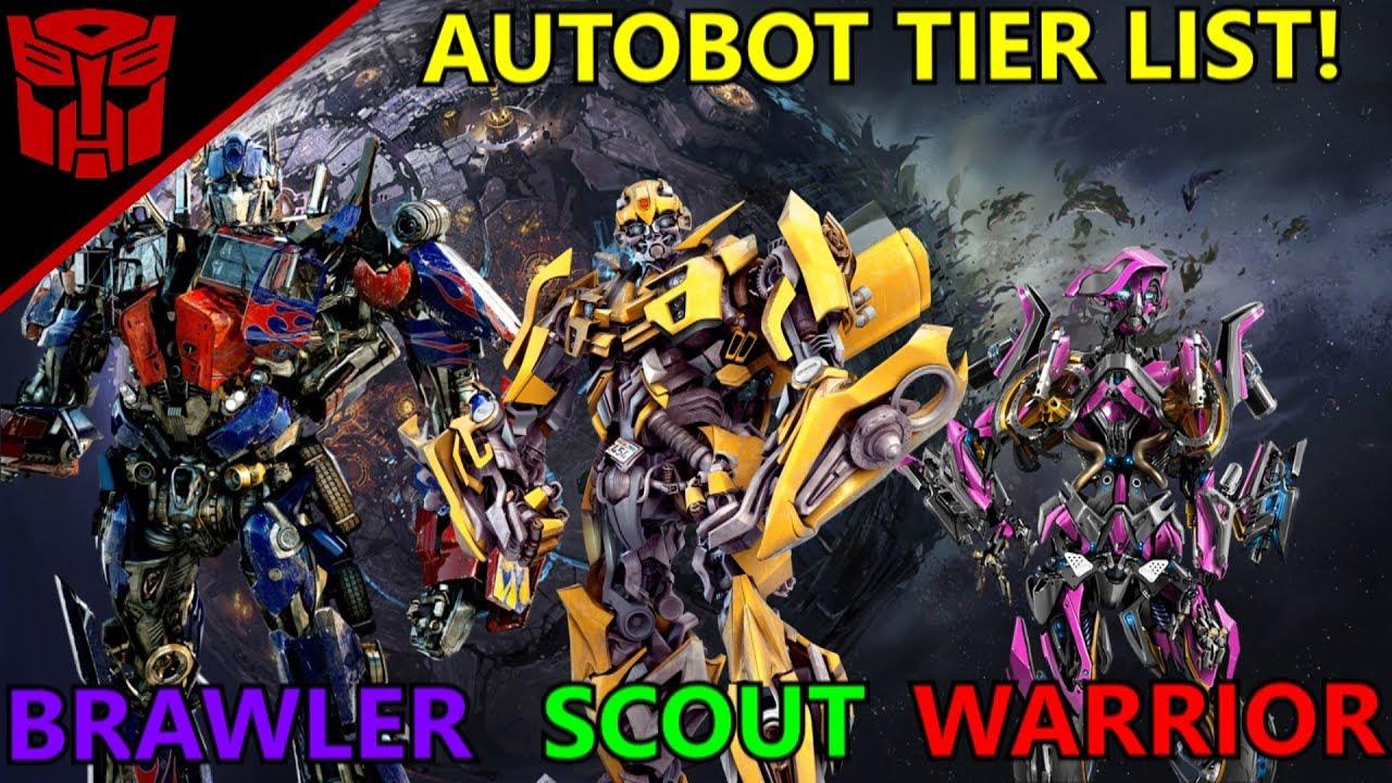 List Of Transformers >> First Movie Autobot Tier List Best To Worst Transformers Bumblebee 2018