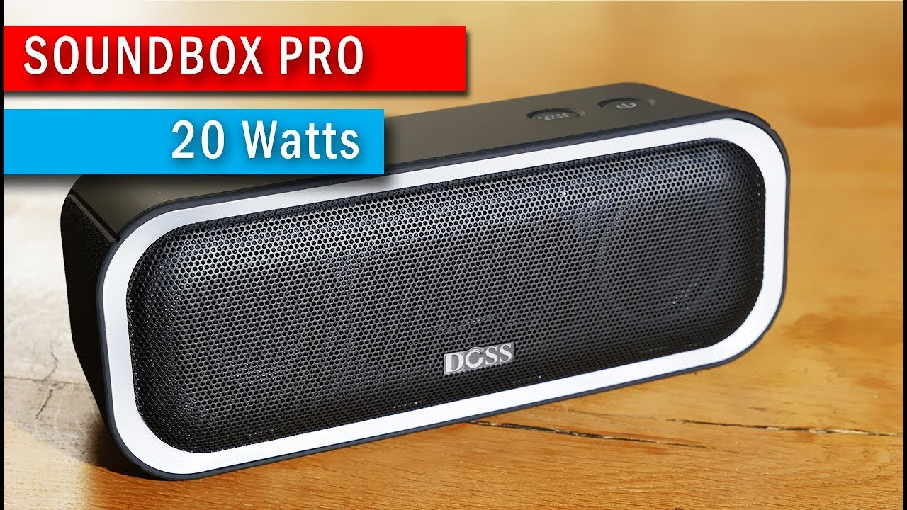 test enceinte bluetooth doss soundbox pro led pas cher portable youtube