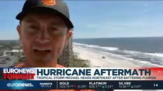 Euronews Tonight: Live report from US after Hurricane Michael