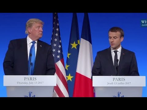 Trump And French President Macron- Full News Conference In Paris
