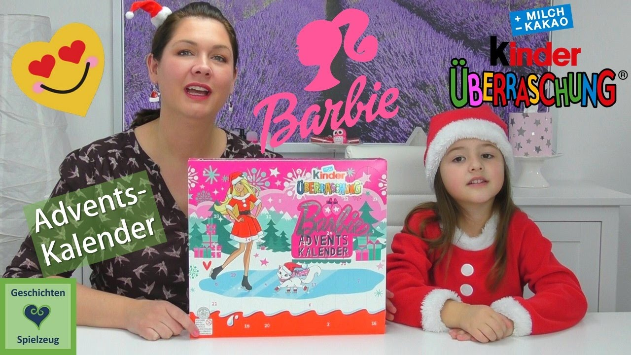 kinder berraschung barbie adventskalender geschichten und spielzeug kinderkanal youtube. Black Bedroom Furniture Sets. Home Design Ideas