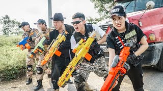 LTT Game Nerf War : Couple Warriors SEAL X Nerf Guns Fight Crime Braum Crazy Mercenary Agents