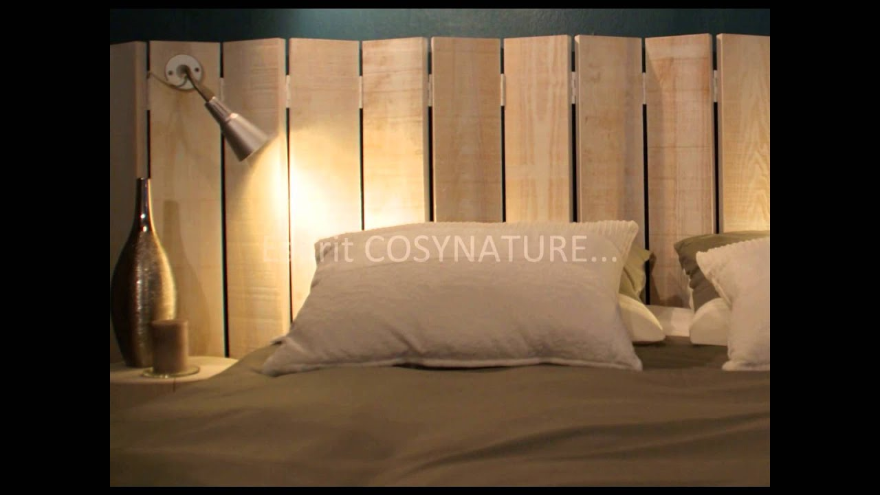 T te de lit d co youtube - Comment faire une tete de lit en bois ...
