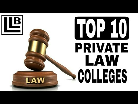 Top 10 Private Law Colleges in india | Best Law Colleges in india 2019 |