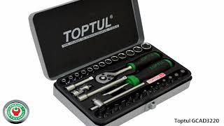 Обзор набора профессионального инструмента Toptul GCAD3202 на 32 предмета