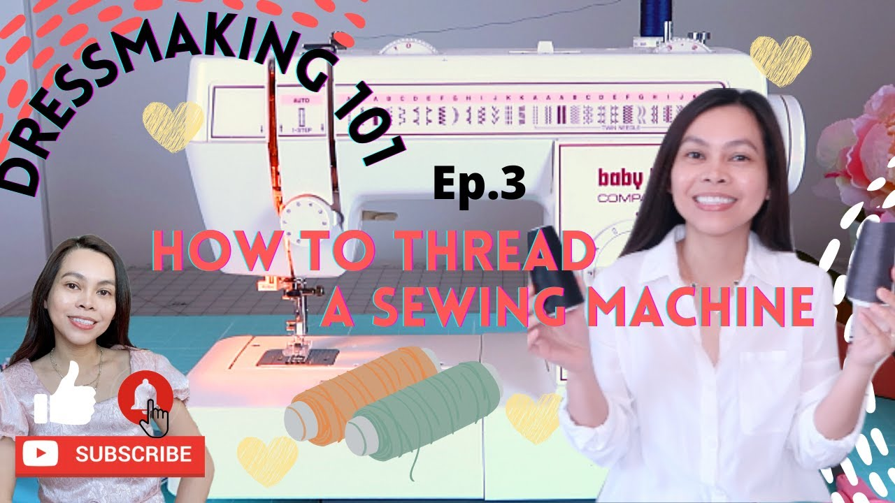 DRESSMAKING 101 EP. 3 HOW TO THREAD A SEWING MACHINE FOR BEGINNERS | SEW ALDO DRESS