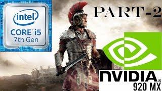 Ryse Son Of Rome PC-Gameplay Walkthrough Part-2, NVIDIA GeForce 920MX, Intel Core i5, 4GB RAM