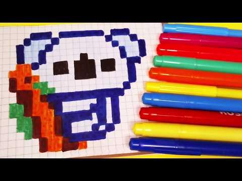 Handmade Pixel Art а koala - How To Draw