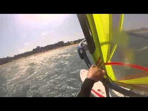 Torquay GoPro Flying Windsurfer Action Brian McManus