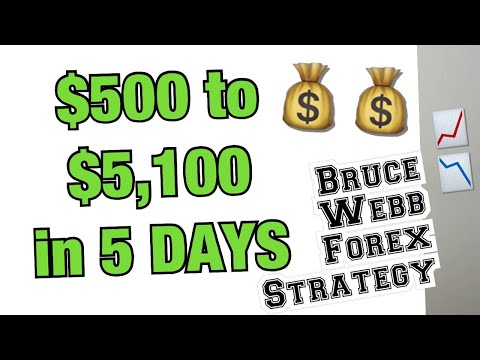 $500 - $5,100 in 1 Forex Trading week Using Bruce's Strategy (Bruce's Price Predictor)