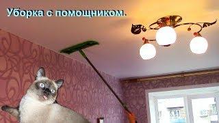 Как мыть натяжные потолки видео
