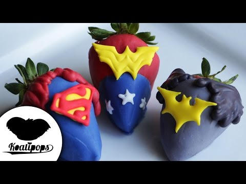 Justice League Strawberries | How to | Batman v Superman | Dipped Strawberries