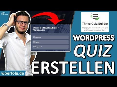 ᐅ TUTORIAL: WordPress QUIZ ERSTELLEN für mehr Leads, bessere Rankings..ᐅBESTES WordPress Quiz PLUGIN thumbnail